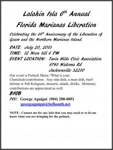 Jacksonville, Florida Marianas Liberation