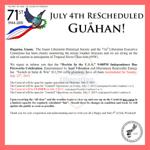 July 4th Rescheduled